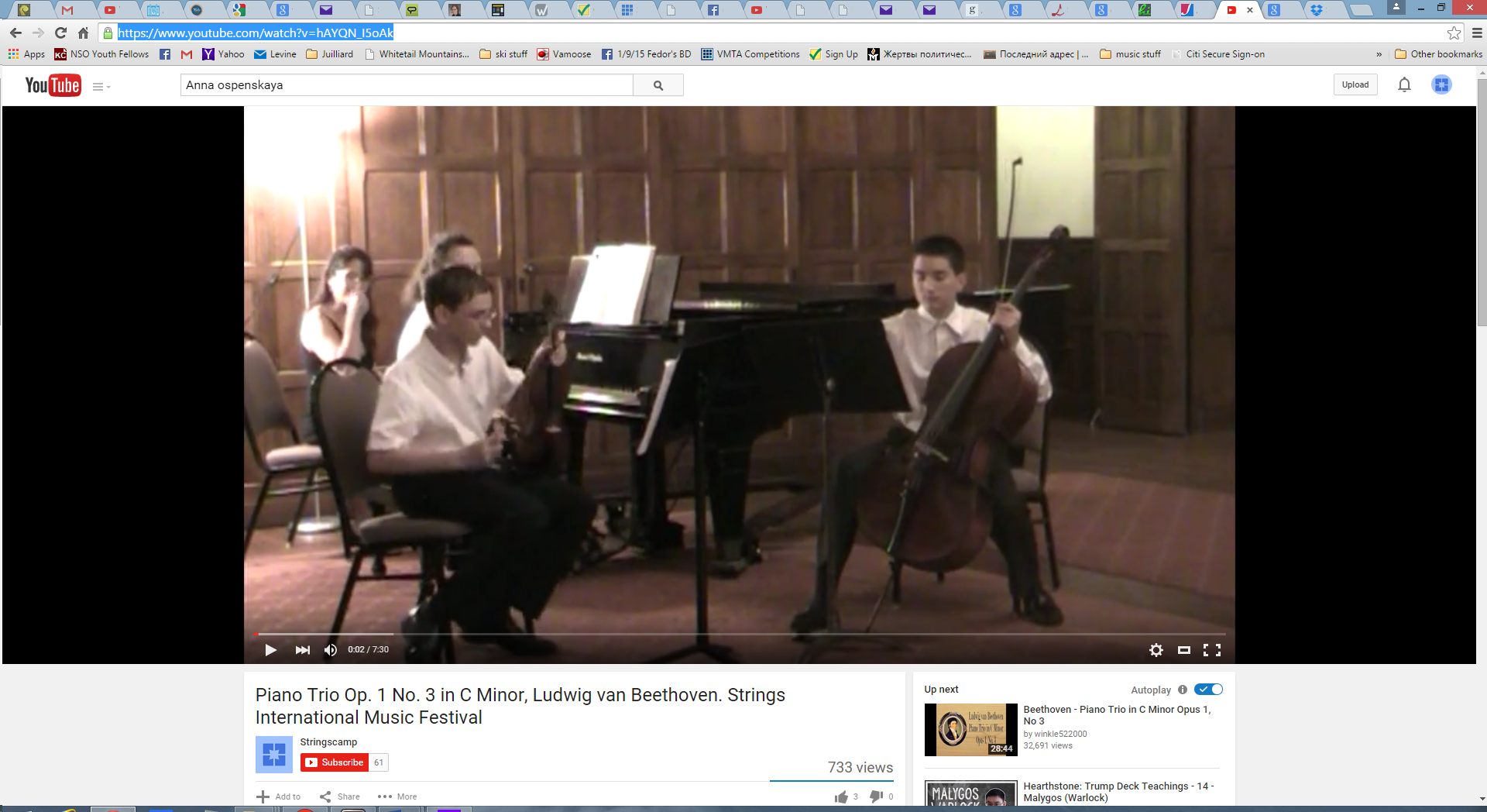 Fedor Beethoven Trio at Strings International